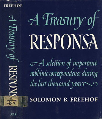 A Treasury of Responsa
