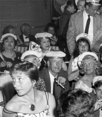 A party aboard the S.S. Flandre in 1959