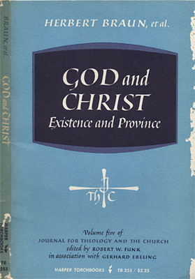 God and Christ: Existence and Province