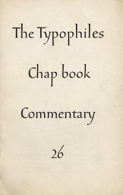 Typophiles Chapbook