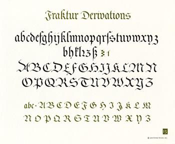 OCH: Fraktur Derivations