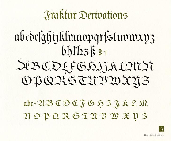 Fraktur Hand Calligraphy Deeperroots Medieval Http