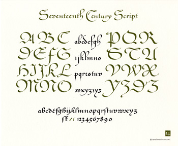 OCH: Seventeenth Century Script