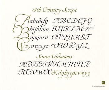 OCH: Eighteenth Century Script