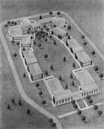 First of the garden mausoleum complexes