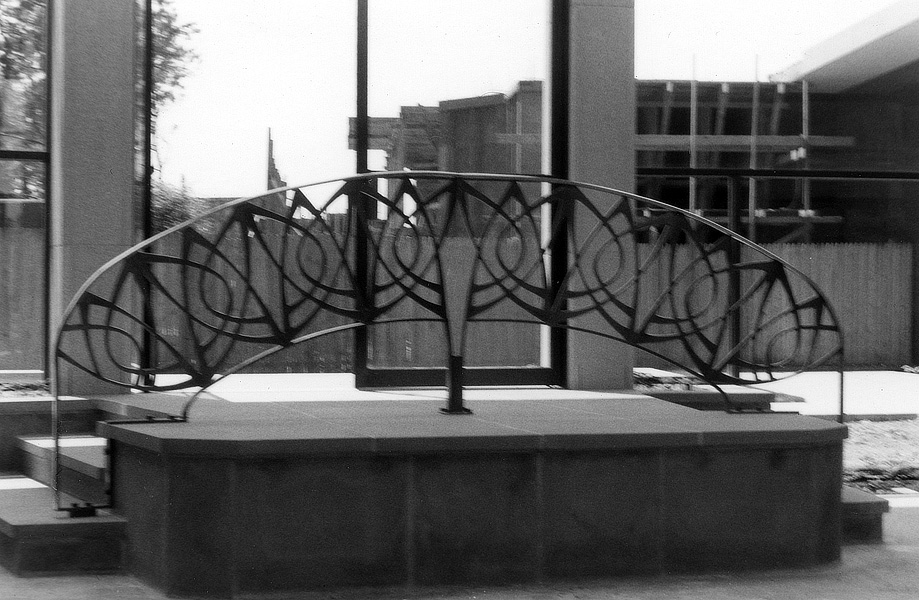 railing in a mausoleum at pinelawn memorial park in farmingdale long