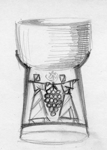 Sketch for an Elijah cup