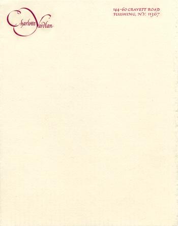Letterhead for Charlotte Yardlan