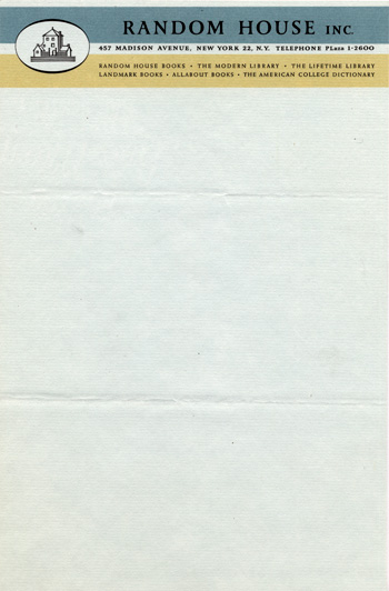 Letterhead for Random House