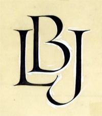 Monogram for Lyndon Baines Johnson
