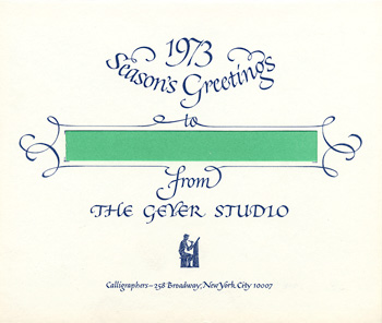 Holiday card for Geyer Studio