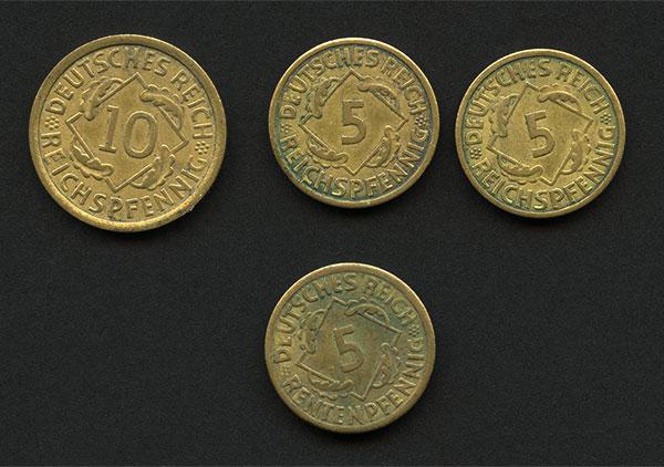 Rentenpfennig and Reichspfennig